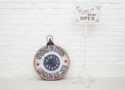時計、看板